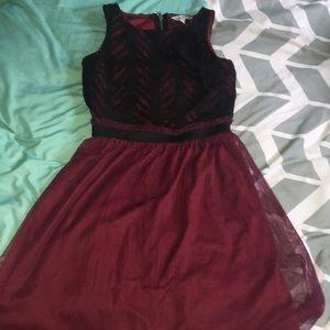 Black and Maroon dress